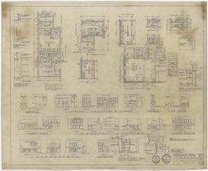 Primary view of object titled 'Hospital Building, Spur, Texas: Detail, Elevation, and Floor Plans'.