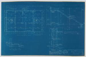 Primary view of object titled 'Hendrick Home for Children Garage, Abilene, Texas: Second Floor Plan and Section Drawings [Proof]'.