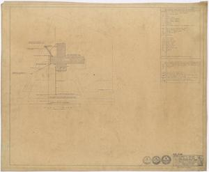 Primary view of object titled 'Hospital Building, Spur, Texas: Mechanical Plot Plan'.