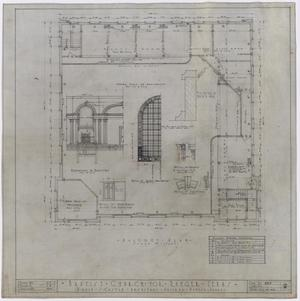Primary view of object titled 'Baptist Church, Ranger, Texas: Balcony Plan'.
