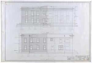 Primary view of object titled 'Nurses' Home, Stamford, Texas: A Nurses Home for Bunkley, Southard & Hudson, North and South Elevation'.