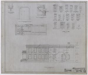 Primary view of object titled 'Hamilton Hospital, Olney, Texas: Side Elevation and Details'.