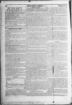 Primary view of object titled 'Texas State Gazette. (Austin, Tex.), Vol. 2, No. 27, Ed. 1, Monday, February 24, 1851'.