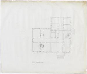 Primary view of object titled 'Hamilton Hospital Additions, Olney, Texas: First Floor Layout'.