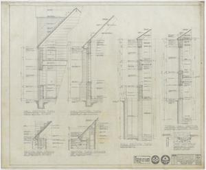 Primary view of object titled 'First Methodist Church Additions: Section Drawings'.