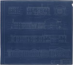 Primary view of object titled 'Hendrick Home for Children, Abilene, Texas: Elevation Plan [Proof]'.