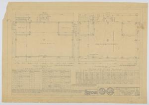 Primary view of object titled 'Hendrick Home for Children Garage, Abilene, Texas: Foundation and First Floor Plan'.