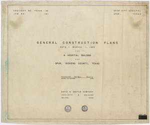 Primary view of object titled 'Hospital Building, Spur, Texas: Title Page'.