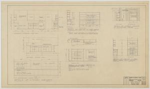 Primary view of object titled 'Highland Methodist Church, Odessa, Texas: Cabinet Detail Plans'.