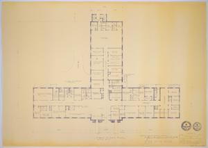 Primary view of object titled 'Midland Memorial Hospital, Midland, Texas: Preliminary Plans, First Floor'.