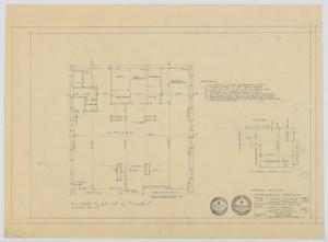 Primary view of object titled 'Midland Memorial Hospital, Midland, Texas: Hospital Building, Floor Plan of Kitchen'.