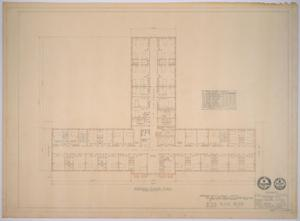 Primary view of object titled 'Midland Memorial Hospital, Midland, Texas: Preliminary Plans, Second Floor'.