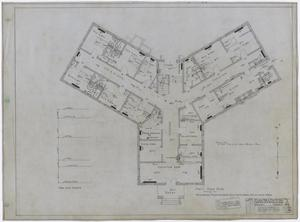 Primary view of object titled 'Hamilton Hospital, Olney, Texas: First Floor Mechanical Plan'.