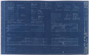 Primary view of object titled 'Abilene Public Library, Abilene, Texas: Elevations'.