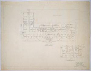 Primary view of object titled 'Haskell County Hospital Alterations, Haskell, Texas: Existing Floor Plans'.