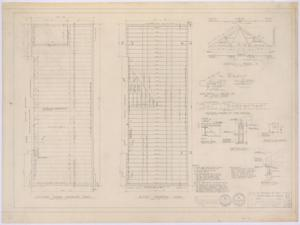 Primary view of object titled 'First Baptist Church Addition, Rule, Texas: Second Floor and Roofing Framework'.