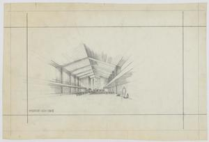 Primary view of object titled 'Church Building Plans: Interior View - Mave'.