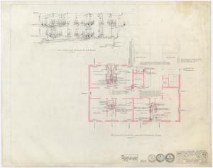 Primary view of object titled 'Hamilton Hospital Additions, Olney, Texas: Second Floor Plumbing Additions'.