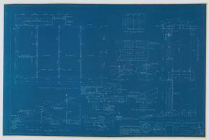 Primary view of object titled 'Hendrick Home for Children Garage, Abilene, Texas: Second Floor Framing Plan and Roof Details [Proof]'.