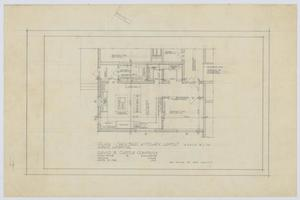Primary view of object titled 'Hospital Building, Spur, Texas: Revised Kitchen Layout Plan'.