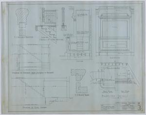 Primary view of object titled 'Central Christian Church, Stamford, Texas: Detail Drawings'.