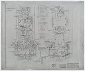 Primary view of object titled 'Hendrick Home for Children, Abilene, Texas: Administration Building Basement and First Floor Mechanical Plan'.