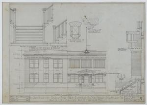 Primary view of object titled 'Sanitarium Building, Stamford, Texas: Front Elevation'.