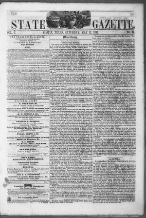 Primary view of object titled 'Texas State Gazette. (Austin, Tex.), Vol. 2, No. 39, Ed. 1, Saturday, May 17, 1851'.