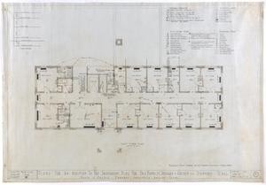 Primary view of object titled 'Sanitarium Building Additions, Stamford, Texas: First Floor'.