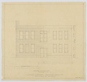 Primary view of object titled 'Sanitarium Building, Lamesa, Texas: Rear Elevation'.