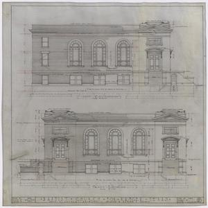 Primary view of object titled 'Baptist Church, Ranger, Texas: Elevations'.