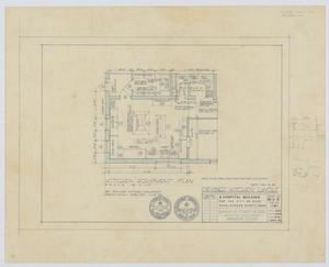 Primary view of object titled 'Hospital Building, Spur, Texas: Revised Kitchen Equipment Plan'.