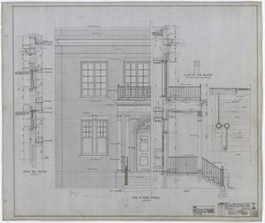 Primary view of object titled 'Hamilton Hospital, Olney, Texas: Front Elevation'.