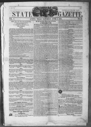 Primary view of Texas State Gazette. (Austin, Tex.), Vol. 2, No. 42, Ed. 1, Saturday, June 7, 1851