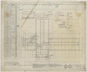 Primary view of object titled 'Hospital Building, Spur, Texas: Beam and Footing Plan'.