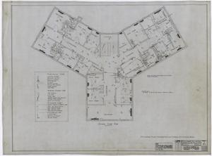 Primary view of object titled 'Hamilton Hospital, Olney, Texas: Second Floor Mechanical Plan'.