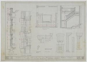 Primary view of object titled 'Methodist Church Additions, Merkel, Texas: Plans for an Addition to the Methodist Church, Stair'.