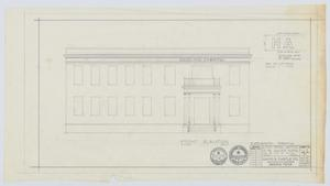 Primary view of object titled 'Hamilton Hospital Additions, Olney, Texas: Front Elevation'.