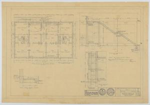 Primary view of object titled 'Hendrick Home for Children Garage, Abilene, Texas: Second Floor Plan and Section Drawings'.
