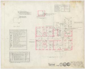 Primary view of object titled 'Hamilton Hospital Additions, Olney, Texas: First Floor Electrical Plan'.