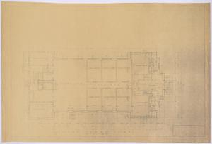 Primary view of object titled 'Baptist Church, Sterling City, Texas: Ground Floor Plan'.