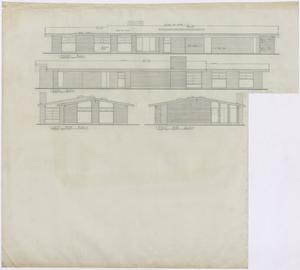 Primary view of object titled 'Bryan Air Force Base Housing: Housing Unit Elevations'.