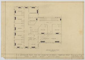 Primary view of object titled 'Sanitarium Building, Stamford, Texas: Second Floor'.