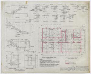Primary view of object titled 'Hamilton Hospital Additions, Olney, Texas: Second Floor Framing Plan'.