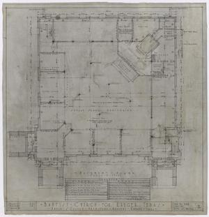 Primary view of object titled 'Baptist Church, Ranger, Texas: Basement Plan'.