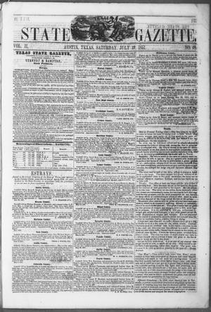 Primary view of object titled 'Texas State Gazette. (Austin, Tex.), Vol. 2, No. 48, Ed. 1, Saturday, July 19, 1851'.