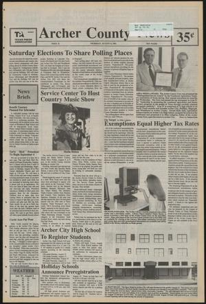 Primary view of object titled 'Archer County News (Archer City, Tex.), No. 32, Ed. 1 Thursday, August 8, 1991'.