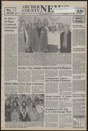 Primary view of object titled 'Archer County News (Archer City, Tex.), No. 7, Ed. 1 Thursday, February 13, 1992'.
