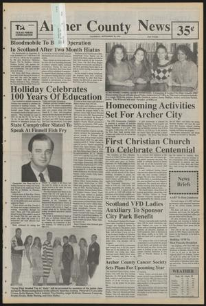 Primary view of object titled 'Archer County News (Archer City, Tex.), No. 39, Ed. 1 Thursday, September 26, 1991'.