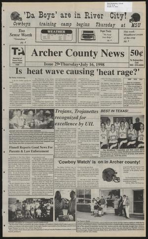 Primary view of object titled 'Archer County News (Archer City, Tex.), No. 29, Ed. 1 Thursday, July 16, 1998'.